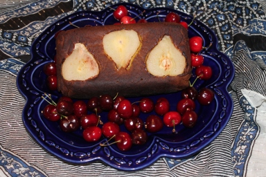 Pear and Gingerbread Cake